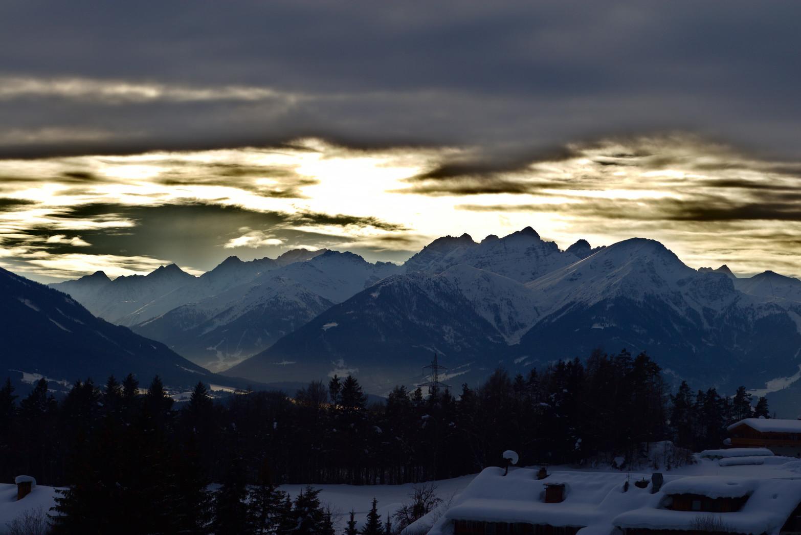 Stubai Alps during sunset