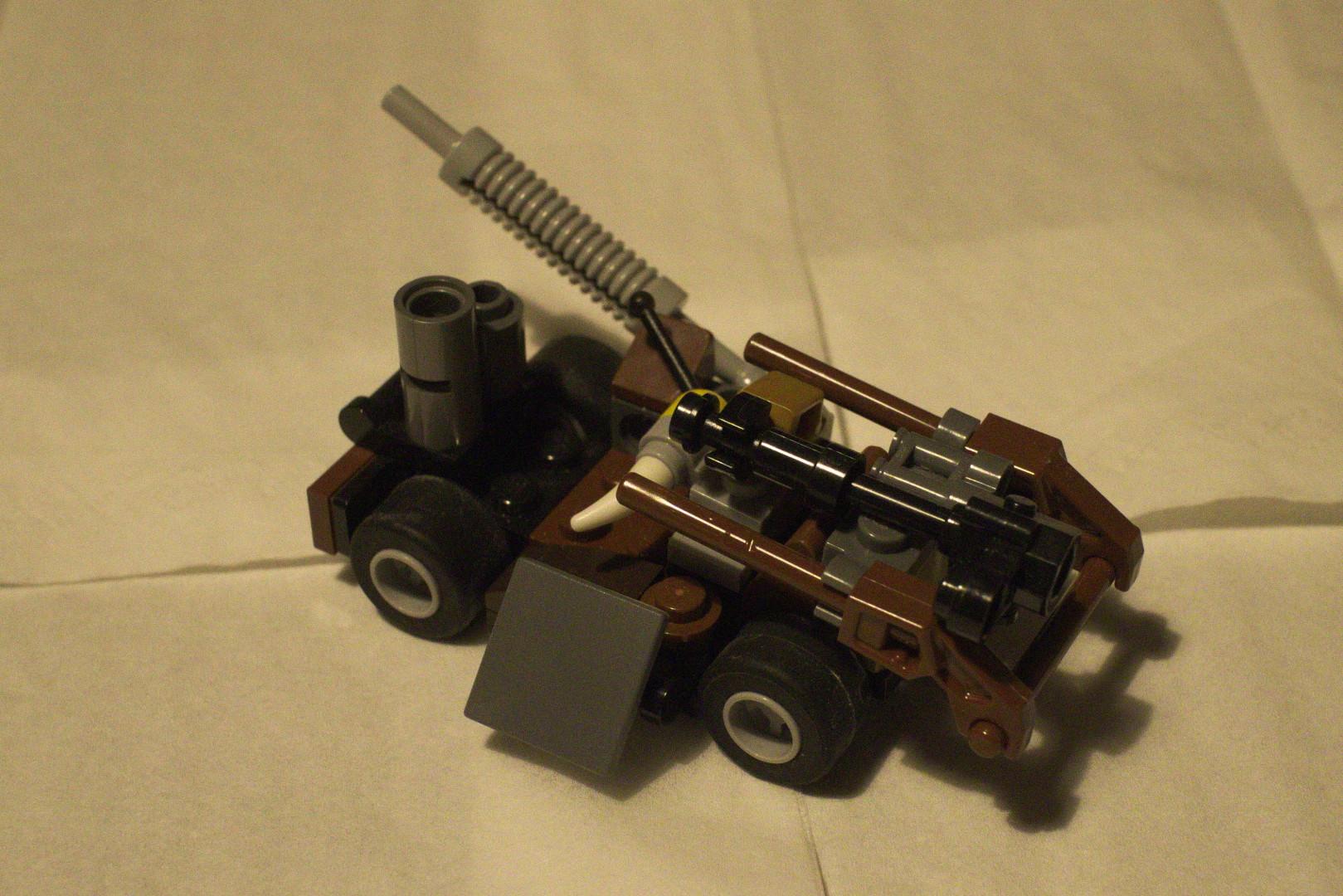 a Lego Mad Max car