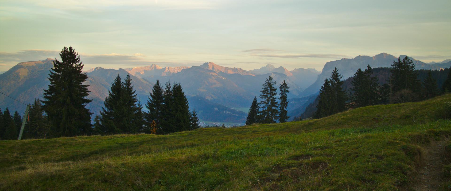 panoramic view of a mountain range