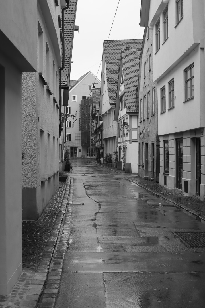 empty rainy street