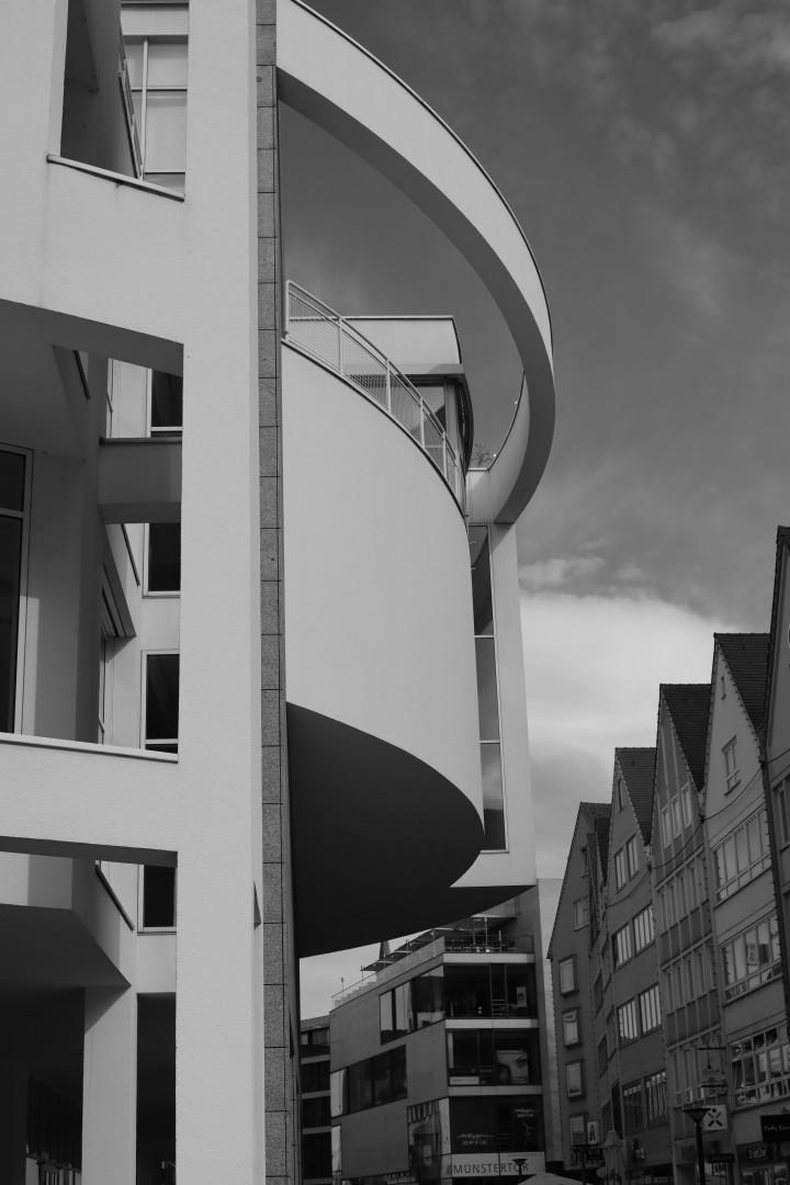 a modern building in Ulm